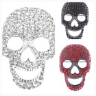 Crystal Rhinestone Shull Pin Brooch Heart Cut Out Nose Halloween xmas gift
