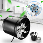 In Line Extractor Fan Hydroponic Grow Room Tent Ventilation Carbon Filter  CA