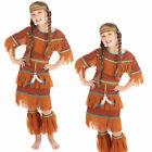 Rising Moon Princess Girls Wild West Deluxe Indian Fancy Dress Kids Costume New