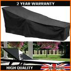 1-2x Black Waterproof Sunbed/sun Lounger Garden Furniture Cover Patio Rattan Bed