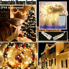 Waterproof  Xmas Party Holiday Decor 100/200 LEDs Fairy String Lights Garland