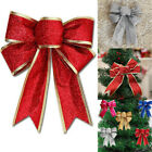 25cm Large Bows Bowknot Christmas Tree Ornaments Xmas Holiday Party Home Decor