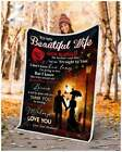 Beautiful Wife-Thank You For Sharing Your Life With Me Sofa Fleece Blanket 50-80