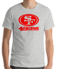 SAN FRANCISCO 49ERS GREY T-Shirt RED Graphic Cotton Adult Logo  S-2XL $12.49 USD on eBay