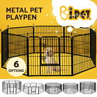 i.Pet 8 Panel Pet Dog Playpen Puppy Exercise Cage Enclosure Fence Cat Play