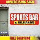 SPORTS BAR Banner Advertising Vinyl Sign Flag restaurant food men cave BILLIARDS $199.92 USD on eBay