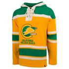 Mens California Golden Seal 47 Brand Heavyweight Jersey Lacer Hoodie NHL Hockey