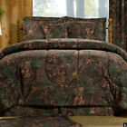 True Timber Mixed Pine Camouflage Bedding Set w Comforter Skirt & Shams Add More