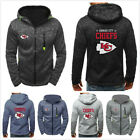 Kansas City Chiefs Hoodies Men's Sweatshirts Football Hooded Jacket Fans Coat $23.74 USD on eBay
