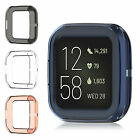 For Fitbit Versa 2 Plating Soft TPU Protective Case Frame Cover Protector Clear