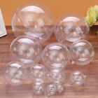 Clear Plastic Craft Ball Transparent Sphere Bauble Xmas Hallowmas Baubles