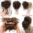 messy bun hair piece high low hair bun extensions as human lady elegant chignon