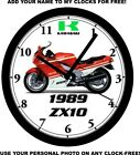 1989 KAWASAKI ZX10 SUPERBIKE WALL CLOCK-FREE USA SHIP