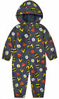 Boys Batman Superman Jumpsuit Kids Coat New DC Waterproof Jacket Ages 0-5 Years