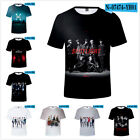KPOP MONSTA X Unisex 3D T-shirt WE ARE HERE Concert Top Casual Crew Neck Tee Top image