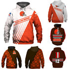 Cleveland Browns Football Hoodie 3D Printed Sweatshirts Pullover Jacket Coat Top $29.44 USD on eBay