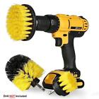 3pcs Cleaning Drill Brush Cleaner Combo Tool Kit Electric Drill Power Scrubber