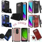 For Samsung Galaxy J7 2015 NEO Case Hybrid Rubber Hard Impact Shockproof Cover