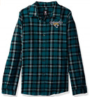 NFL Jacksonville Jaguars 2016 Wordmark Basic Flannel Shirt - Womens Small $16.99 USD on eBay