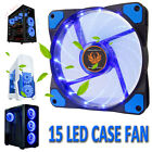 120mm DC 15 LED Cooling Case Fan for PC Computer Quiet Edition CPU Cooler Blue