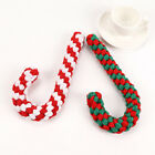 Christmas Candy Cane Pet Dog Chew Toys Braided Cotton Rope Puppy Teething Toy UK