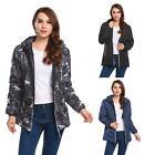 Women Hooded Long Sleeve Camouflage Zip-up Padded Jacket EH7E 02