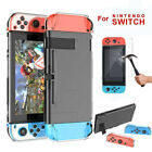 For Nintendo Switch Dockable Hard Thin Protection Case Cover Tempered Glass Film