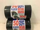 PACK OF HEAVY DUTY BLACK REFUSE SACKS STRONG THICK RUBBISH BAGS BIN LINERS Rolls