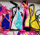 2Pc Colorful 2-Tone Versatile Halter with Y-Back Thong Pool Party Stripperwear $24.0 USD on eBay