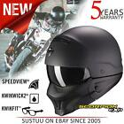 Scorpion Exo Combat Evo Open Face Motorcycle Unisex Helmets│Matt Black│All Sizes