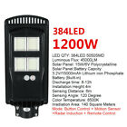 1800W 576 LED Wall Street Light Solar Power Outdoor Garden Lamp + Remote Control