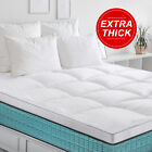 BedStory 2'' Mattress Topper Hypoallergenic Down Pad Cover Twin Full Queen King image