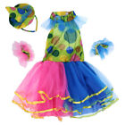 Girls Colorful Spotted Tutu Clown Costume Circus Halloween Party Fancy Dress