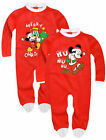 Boys Mickey Mouse Babygrow New Official Disney Christmas Babysuit Age 3-23 Month