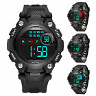 New Childern Waterproof Sports Digital Led Watch Kids Date Alarm Wrist Watch US