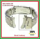 18mm 20mm 22mm FOR OYSTER STYLE LINK WATCH BRACELET CURVED ENDS/ ROUNDED TIPS image
