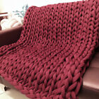40x60in Washable Chunky Knitted Blanket Soft Warm Thick Yarn Bulky Cotton Throw