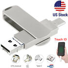 1TB 128GB USB 3.0 Flash Drive Memory Stick Type C 4in1 For iPhone OTG Android PC