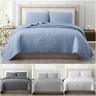 Chezmoi Collection 3pcs Cooling Bamboo Viscose Jacquard Bedspread Coverlet Set image