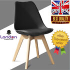 Jamie Tulip Dining Chair, Eiffel Inspired,Solid Wood ABS Plastic, Padded Seat UK