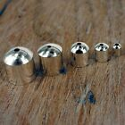 End Caps Silver Plated , Cord Tips For Jewellery Making. 5 Sizes  24 Pack C15
