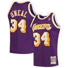 Men's Los Angeles Lakers Shaquille O'Neal Mitchell & Ness Purple 1993-94 Jersey on eBay