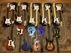 HUGE LISTING OF 18 WII AND PS3 GUITAR HERO / ROCK BAND GUITARS WITH DONGLES !!