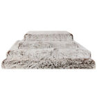 Deluxe Dog Mattress Bed Jumbo Orthopedic Pet Cushion 2 Tone Brown XXXL XL Large
