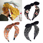 Women Flower Leaf Bow Knotted Wide Headband Hairband Hair Hoop Accessory Novelty