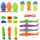 4X Shark & 3X Fish bone 3X Seaweed Underwater Pool Diving Game Swimming Toys IB