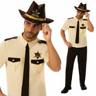 US Sheriff Costume American Native Police Officer Fancy Dress Outfit Mens Adults