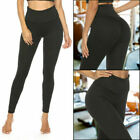 Women Anti-Cellulite Yoga Pants High Waisted Leggings Push Up Sports Gym Fitness