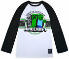 Boys Minecraft Top Long Sleeve Cotton T-shirt Kids New Gaming Top Age 7-16 Years