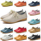 Women's Leather Flats Shoes Comfort Walking Slip on Casual Dress Loafers Ladies